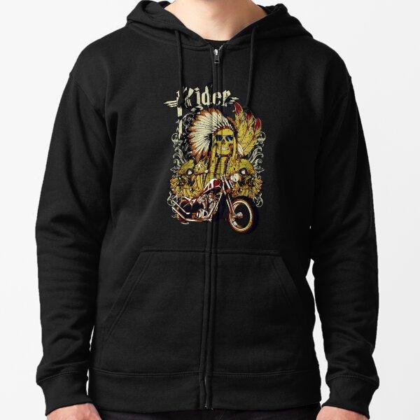 Motorbike gangs Zipped Hoodie