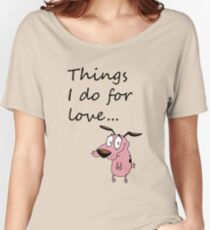 COURAGE THE COWARDLY DOG Women's Relaxed Fit T-Shirt