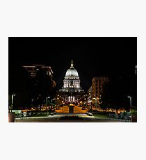 Capitol at Night - Wisconsin Photographic Print