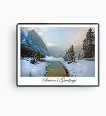 Season's Greeting Card Metal Print