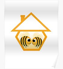 in love bee in abstract house Poster
