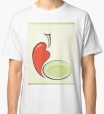 background for menu with pepper and plate Classic T-Shirt