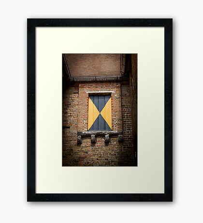 Mystery Window Framed Print