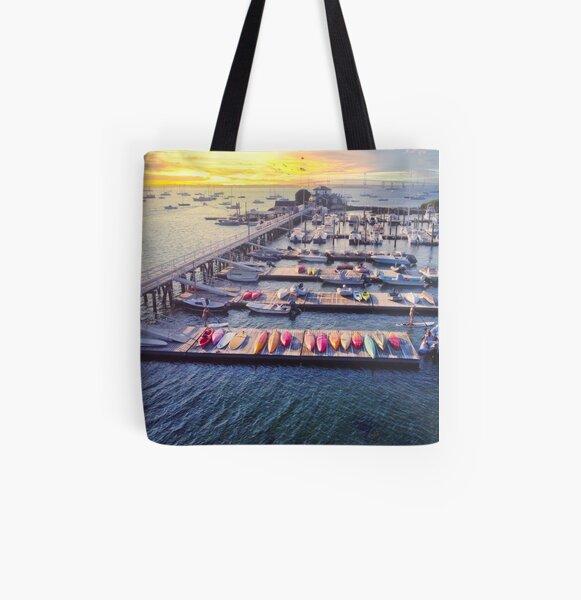 Newport Rhode Island Docks All Over Print Tote Bag