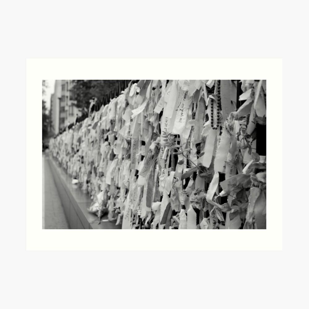 Boston Remembers Ribbons Kunstdruck