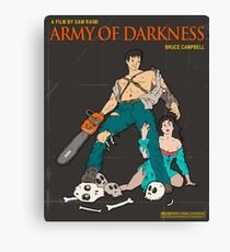Army Of Darkness Brown Canvas Print