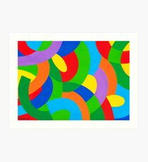 COLORFUL COMPOSITION Art Print