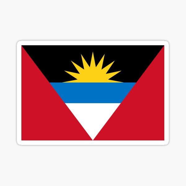 Antigua and Barbuda Flag Gifts, Stickers & Products Sticker