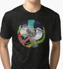 White-throated sparrows painting - 2012 Tri-blend T-Shirt