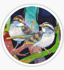 White-throated sparrows painting - 2012 Sticker