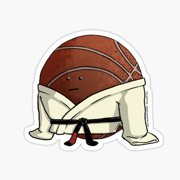 Pin-Sprites - Basketball in a Gi - Color/Face Sticker