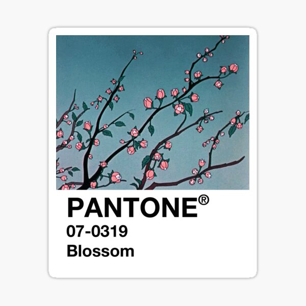 Blossom PANTONE 90s Anime aesthetic Sticker
