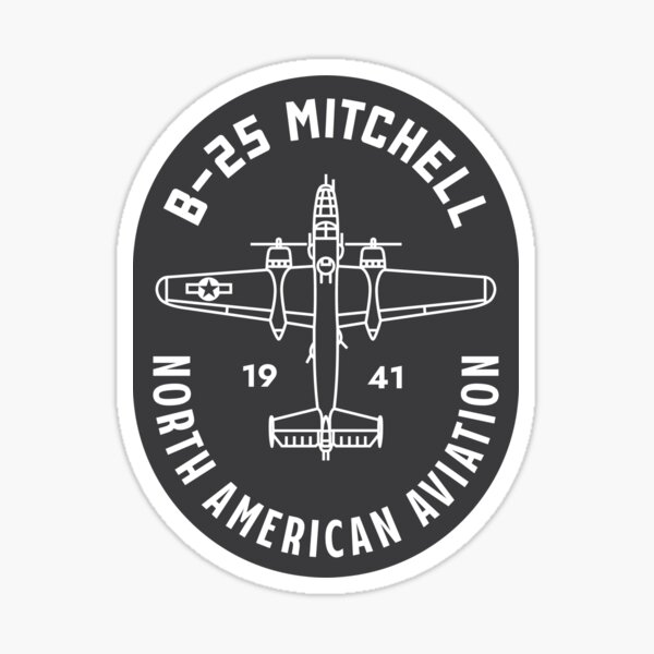 B-25 Mitchell badge Sticker