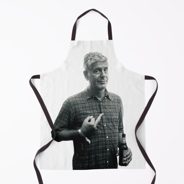 Anthony Bourdain Middle Finger and Beer Apron