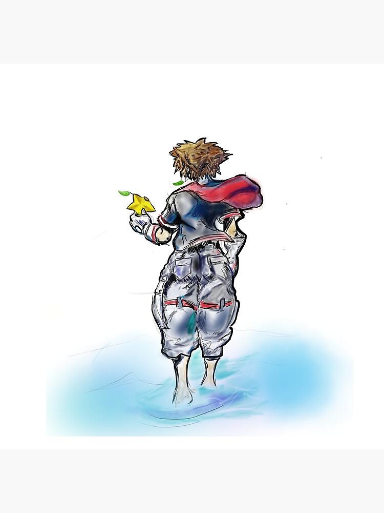 Sora Kingdom Hearts Digital Art  by ChibiMasks