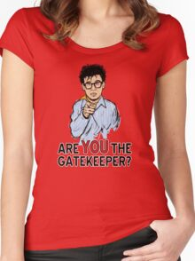 Are You the Gatekeeper? Women's Fitted Scoop T-Shirt