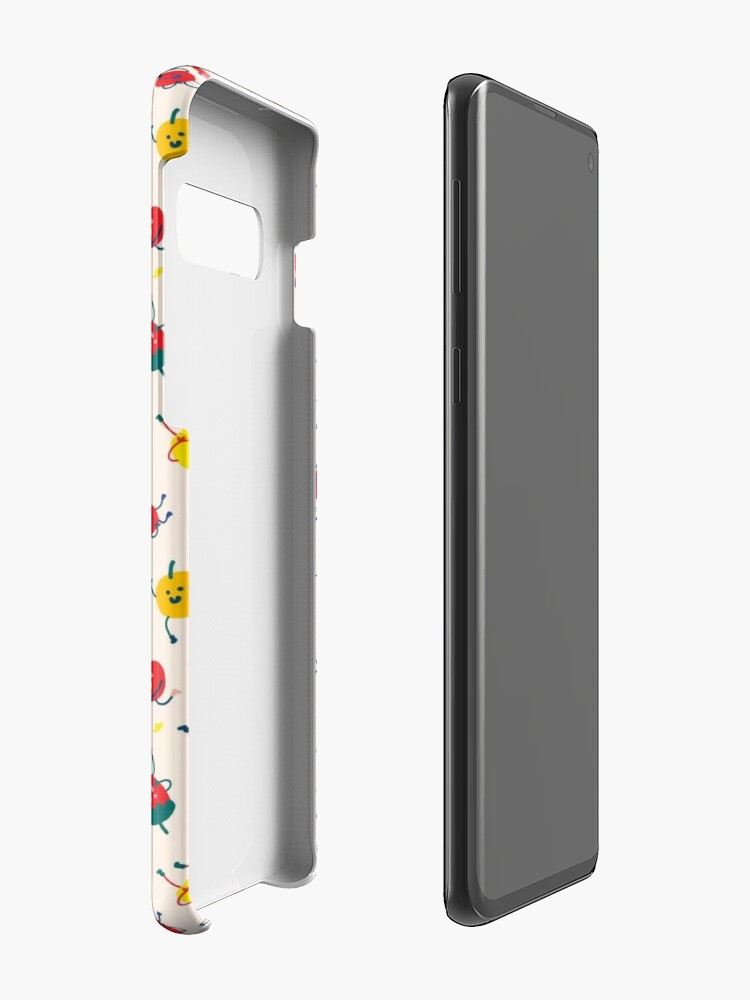 Alternate view of Happy Fruits Case & Skin for Samsung Galaxy