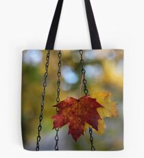 Leaves in Bird Feeder Chain Tote Bag