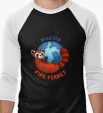 Mozilla Fire Ferret Men's Baseball ¾ T-Shirt