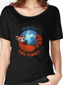 Mozilla Fire Ferret Women's Relaxed Fit T-Shirt