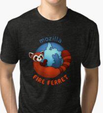 Mozilla Fire Ferret Tri-blend T-Shirt