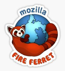 Mozilla Fire Ferret Sticker