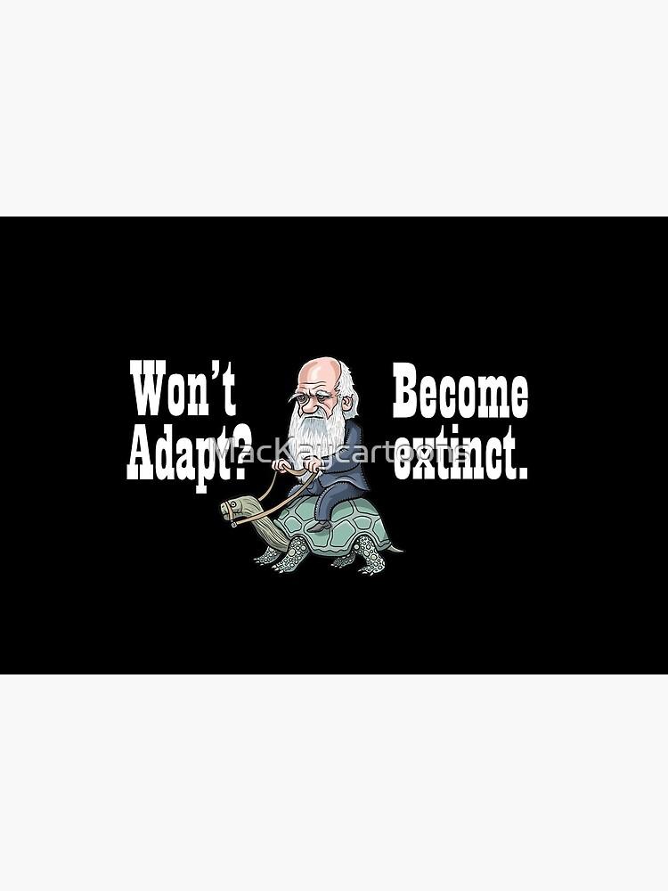 Charles Darwin by MacKaycartoons