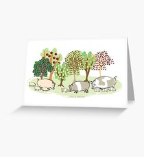 Permaculture Pigs Greeting Card