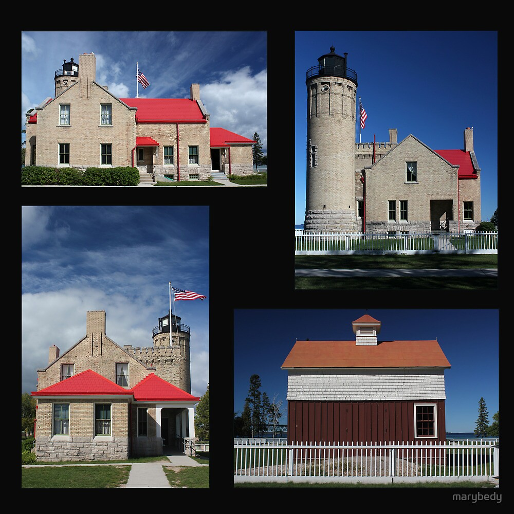 Old Mackinac Point Lighthouse Collage by marybedy