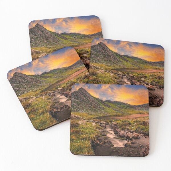 Tryfan and Llyn Ogwen Snowdonia  Coasters (Set of 4)