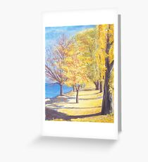 Lake Explanade Queenstown Nz Greeting Card