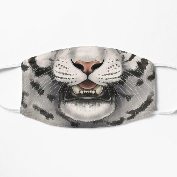 White Tiger Face Flat Mask
