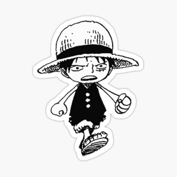 Tiny Luffy Sticker