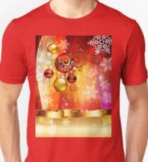 Colorful Background with Xmas Balls 4 T-Shirt