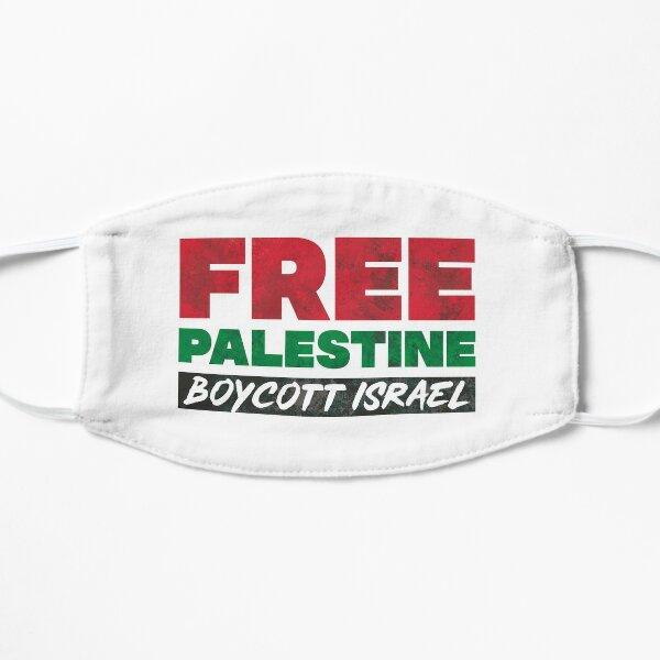 Free Palestine, Boycott Israel Flat Mask