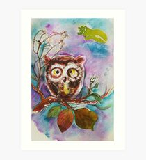 """Owlet`s thought"" Art Print"