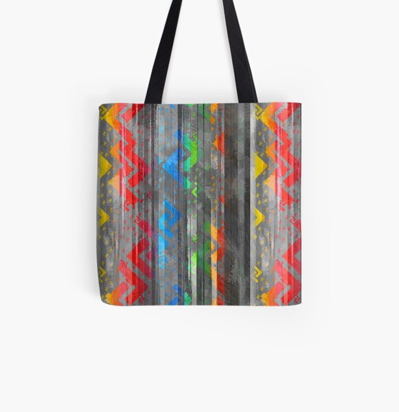 Jera Bright and Grime - Earth - Right Action Scandinavian Rune All Over Print Tote Bag