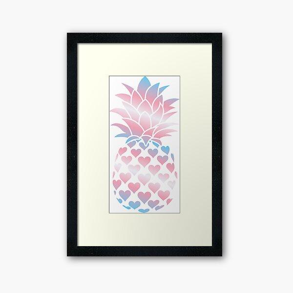 Trans Pineapple Framed Art Print