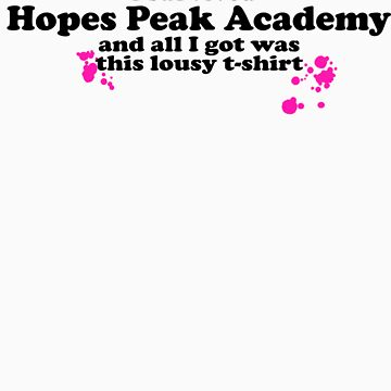 I Survived Hopes Peak Academy (Dark Font) by katigiri