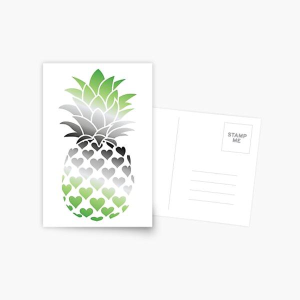 Aromantic Pineapple Postcard