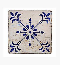 lisbon mosaic Photographic Print