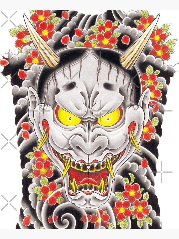 Goro Majima Hanya tattoo (with flowers) by thehollowpoint