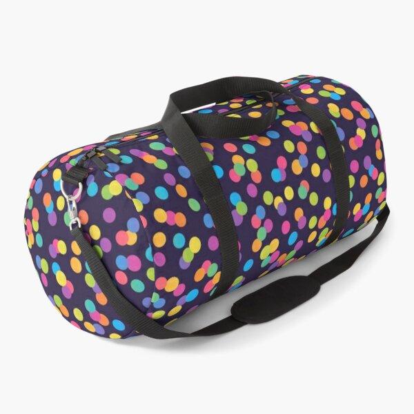 Bright Rainbow Ombre Gradient Confetti Pattern Duffle Bag