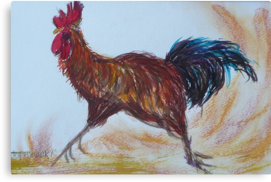 This Chook means Business. by Trudy  Nicholson