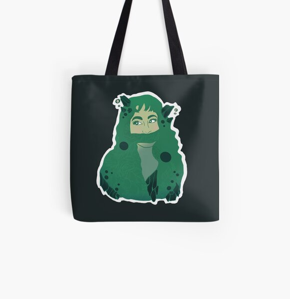 Leafy Greens Queen All Over Print Tote Bag