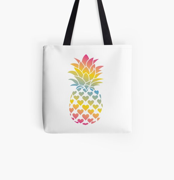 Pansexual Pineapple All Over Print Tote Bag