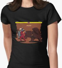 Bear Fight! Womens Fitted T-Shirt