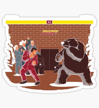 Bear Fight! Sticker