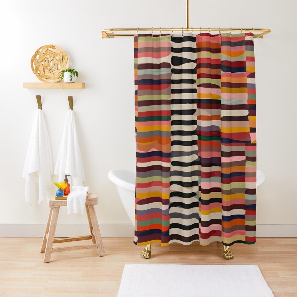Etchnic Scandinavian Pattern Shower Curtain