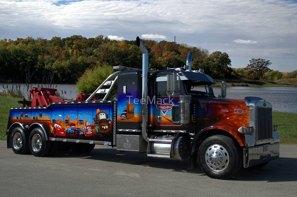 """Peterbuilt Big Rig Tow Truck """"Cars"""" Tribute Truck by TeeMack"""